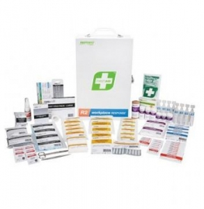 First Aid Kit R2 Work Place Response Metal Box - Click for more info