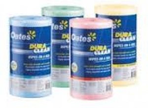 Oates Duraclean Wipes On A Roll Blue 45M