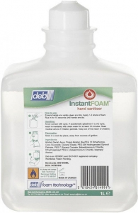 Deb Intstant Foam Sanitiser 1ltr 6 bottles - Click for more info