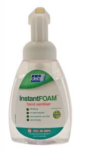 Deb Instant Foam Sanitiser Pump 400ml 6 bottles - Click for more info