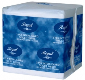 Regal Interleaved Toilet Tissue 2 Ply 240 Sheet 36 Packs