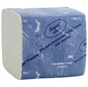 Regal Interleaved Toilet Tissue 2 Ply 250 Sheet 36 Packs - Click for more info