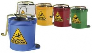 Oates Contractor Wringer Bucket Yellow 15Ltr