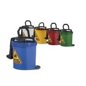 Oates Duraclean Roller Wringer Bucket Green 15Ltr