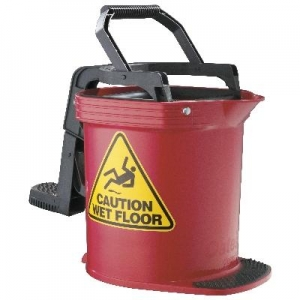 DuraClean Ultra Roller Wringer Bucket 16L Red - Click for more info