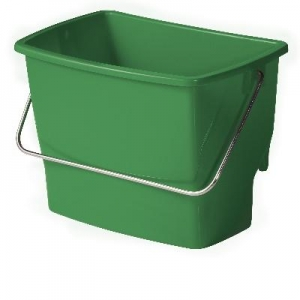 Ezy Ergo Side Bucket Rectangle 7Lt Green - Click for more info