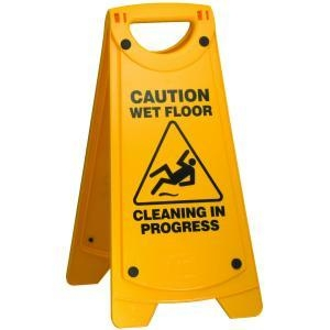 Oates Caution Wet Floor Sign A Frame Yellow - Click for more info