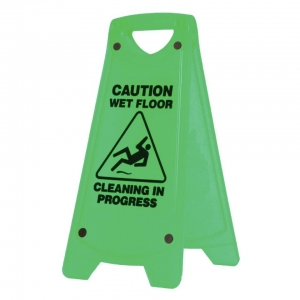 Nonslip A-Frm Caution Sign Grn