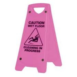 Oates Caution Wet Floor Sign A Frame Pink