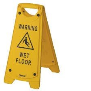 Oates Wet Floor Sign Yellow