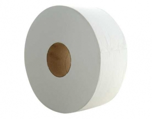 TruSoft Jumbo Roll, Recycled 2 ply 300m 8 rolls GECA - Click for more info