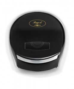 Jumbo Toilet Roll Dispenser Single Black Plastic - Click for more info