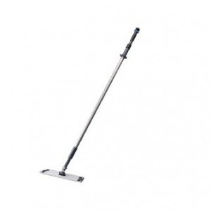 400Mm Fluid Aluminium Flat Mop Head & Handle Oates - Click for more info