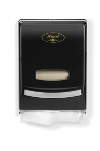 Regal Slim Hand Towel Dispenser Black Plastic