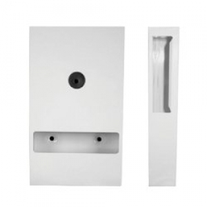 Interfold Toilet Tissue Dispenser White Powder Coated - Click for more info