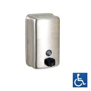 S/S Soap Dispenser Vertical Black Button 1.2Ltr