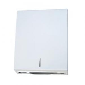White Powdercoated Steel Hanndtowel Dispenser - Slimline - Click for more info