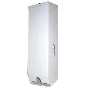 Metal Triple Toilet Roll Dispenser White