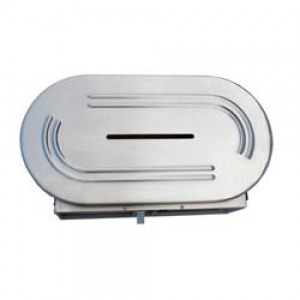 Double Jumbo Toilet Paper Dispenser Ss