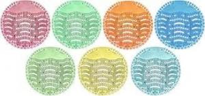 Wave Premium Urinal Screen - Herbal Mint-Translucent Green