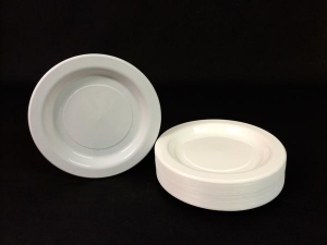 7' White Genfac Plate Ctn/500 - Click for more info