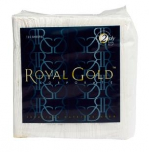 Royal Gold Dinner Napkin 2 ply 8 fold 125 sheet 16 packs - Click for more info