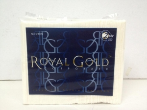 Royal Gold Luncheon Napkin 2 ply 8 fold 125 sheet 24 packs - Click for more info