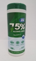 Alcohol Wipes 75% 12 Canister x 100 sheets