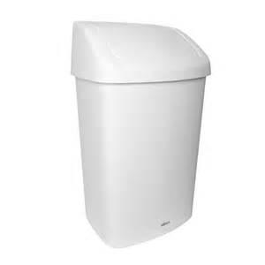 White Waste Bin 50L W/Swing Lid