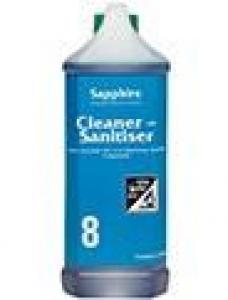 Sapphire #8 - Cleaner Sanitiser 2.5ltr Each - Click for more info