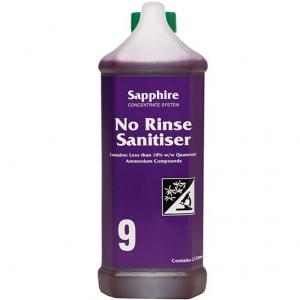 Sapphire #9 No Rinse Sanitizer 2.5ltr Each