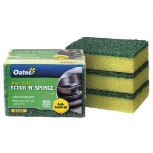Oates DuraFresh Antibac Scour n Sponge 3/pack
