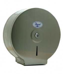 Regal Stainless Steel Jumbo Toilet Roll Dispenser Single