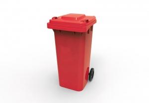 Wheelie Bin 120lt Red (Oates)