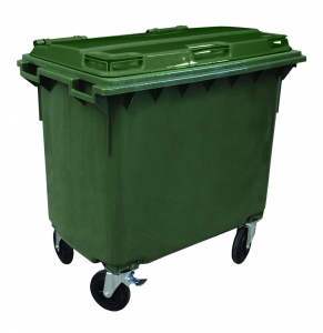Oates 4 Wheel Bin 660L Green - Click for more info